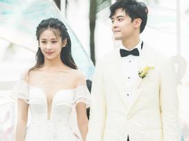 Cận cảnh váy cưới gắn đầy kim cương cùng hôn lễ đẹp như mơ của mỹ nhân 'Cổ kiếm kỳ đàm'