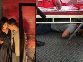 Người đàn ông lạ nằm dưới gầm giường