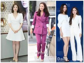 Song Hye Kyo - Choi Ji Woo dù U40 nhưng trẻ trung như gái mới lớn, đẹp xuất sắc 'ăn đứt' đàn em