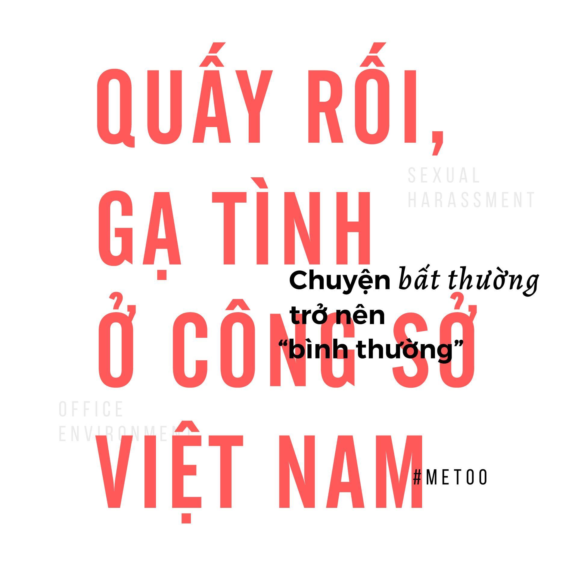Quấy rối ở công sở Việt Nam: Chuyện bất thường trở nên bình thường