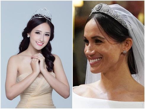 Quá thích vương miện của vợ Hoàng tử Harry, Mai Phương Thúy tự làm 1 chiếc... đeo cho sướng