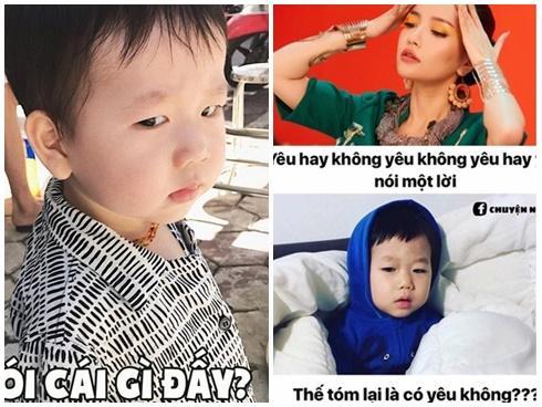 Hot girl - hot boy Việt: Vợ chồng Ba Duy, Nam Thương chế ảnh con trai cực hài khiến dân tình 'cười ngất'