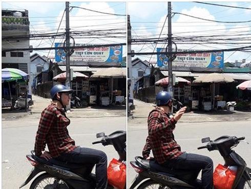 'Em trai nhà người ta' che nắng yên xe máy cho chị ngồi bớt nóng