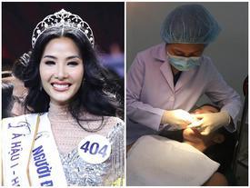 Nối gót H'Hen Niê, Hoàng Thùy đến gặp nha sĩ để tìm hàm răng hoàn hảo