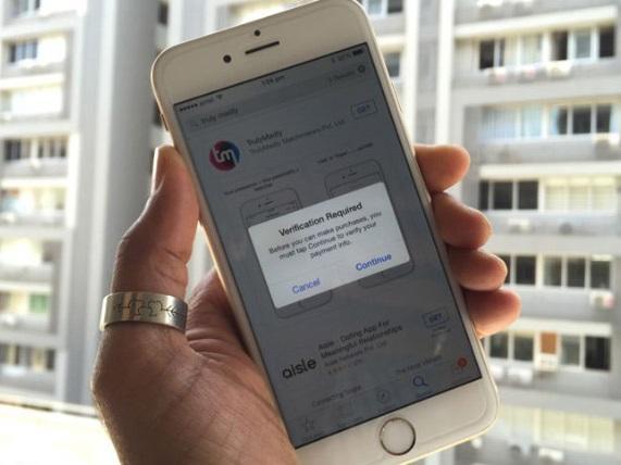 Tắt yêu cầu xác thực khi cài đặt ứng dụng miễn phí trên iOS