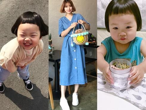 Lộ diện nhan sắc bà mẹ xinh như hot girl của bé gái 3 tuổi gây sốt với mái tóc 'gáo dừa'