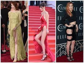 Những pha váy khoét xẻ cao 'phản chủ' khiến mỹ nhân muốn độn thổ