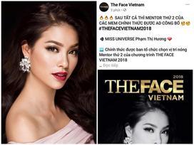 Sát giờ công bố, The Face Vietnam 2018 'hố sóng' khi để lộ thông tin Phạm Hương là huấn luyện viên