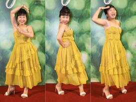 Không đỡ nổi tư thế tạo dáng 'bá đạo' của Trang Hý trên thảm đỏ phim 'Em gái mưa'