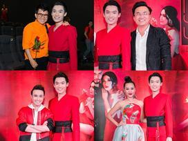Phương Uyên và dàn sao khủng 'đội mưa' đến chúc mừng Quang Trung ra mắt parody 'Bùa yêu'