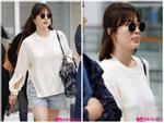 Song Hye Kyo kém duyên mắc lỗi trang phục khi trở về Hàn Quốc
