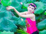 Nữ sinh Hải Dương sở hữu vòng ngực 110 cm khiến người xem bỏng mắt với ảnh áo yếm bên sen-7