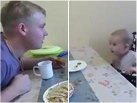 Clip: Không nhịn được cười với cậu con trai 2 tuổi 'bóc mẽ' chuyện bố tán gái