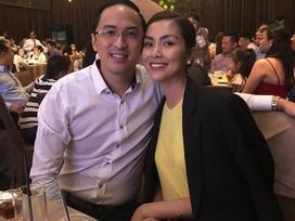 Tin sao Việt: Tăng Thanh Hà hạnh phúc trong vòng tay ông xã khi đi dự tiệc cưới