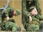 Đang diễn cảnh hy sinh trong quân ngũ, Hoàng Tôn - Bảo Kun - Tuấn Kiệt mất kiểm soát cứ cười khanh khách