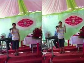 'Em trai' Soobin Hoàng Sơn khoe giọng hát hay như bản gốc trong đám cưới ở Hà Tĩnh
