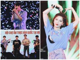 HyunA diện áo khoét nửa ngực, Highlight diễn lại hit cũ của B2ST khiến fan gào thét