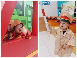 Ly Kute hào hứng chia sẻ khoảnh khắc con trai tham gia các lớp học kĩ năng sống vào ngày nghỉ