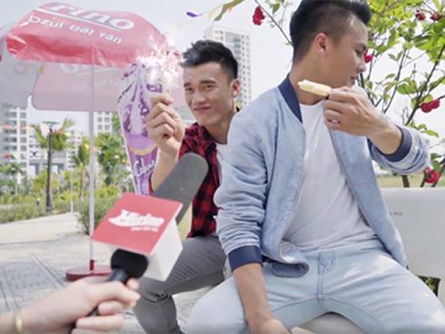 Trận 'đấu kem' ngọt ngào giữa Tiến Dũng - Quang Hải