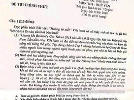 Quốc Cơ - Quốc Nghiệp bất ngờ xuất hiện trong đề thi Ngữ văn cấp 2