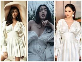 Võ Hoàng Yến - Châu Bùi - Hương Giang Idol 'kẻ 9 người 10' khi cùng diện chiếc váy hot trend