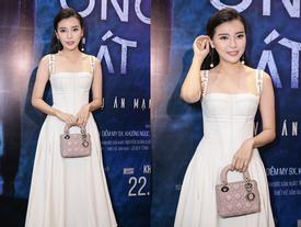 Kim Ji Won của 'Hậu duệ mặt trời' bản Việt đẹp dịu dàng đi xem phim tâm lý tội phạm