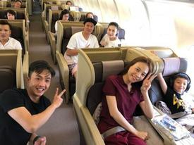 Sau tiệc sinh nhật của Subeo, Cường Đô La hào hứng đưa con trai và Đàm Thu Trang đi du lịch