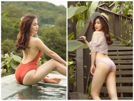 Hương Tràm gia nhập hội sao Việt táo bạo khoe vòng một nảy nở cùng vóc dáng đồng hồ cát khi diện áo tắm