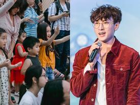 Isaac ướt sũng, diễn hits triệu view trong sự cổ vũ của fan nhí nước ngoài