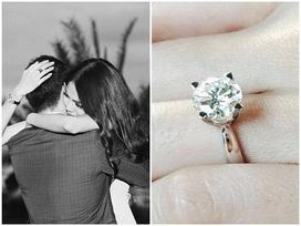 Cận cảnh chiếc nhẫn kim cương Tuấn John cầu hôn Lan Khuê: 'Cô ấy đồng ý cùng tôi sống đến răng long đầu bạc'