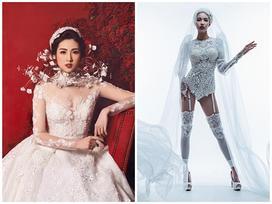 Chẳng bao lâu nữa là đến ngày lên xe hoa, tân nương Lan Khuê - Tú Anh diện váy cưới cứ gọi là 'đẹp mất xác'