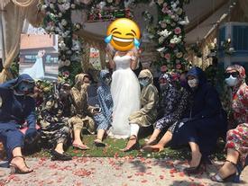 Nắng 37 độ C, hội chị em Quảng Ninh mặc 'đồ ninja' đi đám cưới