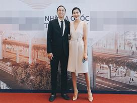 Tăng Thanh Hà 'trốn con' cùng chồng sánh đôi đi dự sự kiện