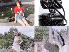 Túi nhựa trong đang được sao Việt 'tung hô' hết nấc với phong cách vô cùng ấn tượng