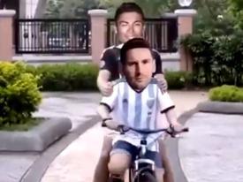 Clipchế: Messi cùng Ronaldo 'đi thật xa để trở về' được chia sẻ chóng mặt