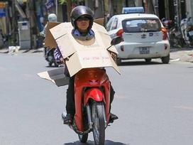 Chùm ảnh: Những cách chống nóng cười ra nước mắt của người Việt