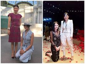 Minh tinh Thái Lan quỳ gối khi gặp công chúa ở Pháp
