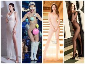 Nghiện đầm xuyên thấu, mỹ nhân không ngờ mình thành 'con rối thời trang' bởi từ sexy sang phản cảm quá mong manh