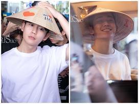 Mỹ nam 'Chị đẹp' Jung Hae In đội nón lá đáng yêu hết nấc trong vòng vây fans Việt