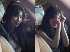 Vội vã rời sân bay, 'công chúa sexy' xứ Hàn Hyuna vẫn kịp 'bắn tim' với fan Việt