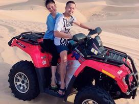 Đăng ảnh đi xe địa hình trên đồi cát, Bảo Trần - Trang Pilla được ví 'cặp vợ chồng ngầu nhất quả đất'
