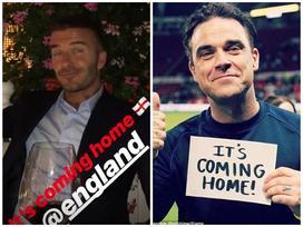 Nhiều sao Anh ăn mừng chiến thắng của đội tuyển ở tứ kết World Cup