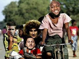 Ảnh chế 'chuyến xe tình yêu' của Messi đón thêm Lukaku cùng đồng đội