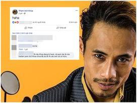 Tài khoản Facebook Phạm Anh Khoa 'tái xuất', đăng trạng thái khó hiểu