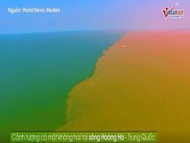 Video: Cảnh tượng ngoạn mục khi sông Hoàng Hà chảy ra biển khơi