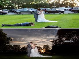 Đằng sau bức ảnh cưới lung linh là cả ekip 'lầy lội'