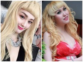 Hạ Vi bị ví von như bản sao của Phi Thanh Vân vì mái tóc vàng hoe kém sang