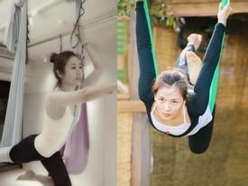 Hóa ra bí mật giúp Lâm Tâm Như, Lưu Diệc Phi... trẻ đẹp như gái đôi mươi chính là môn yoga treo người siêu khó nhằn