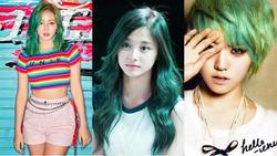 Cùng nhuộm tóc xanh lá cây sáng rực, các idol xứ Hàn ai mới là mỹ nhân 'chất nhất quả đất'?