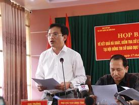 2 Bộ trưởng phối hợp chỉ đạo điều tra vụ điểm thi bất thường tại Hà Giang
